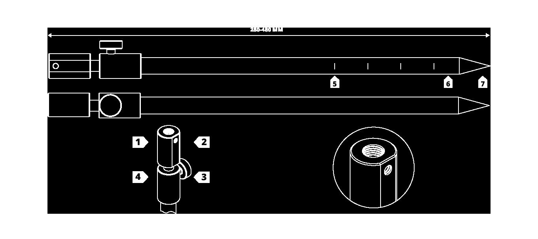 XS Bank Sticks - Technical Drawing
