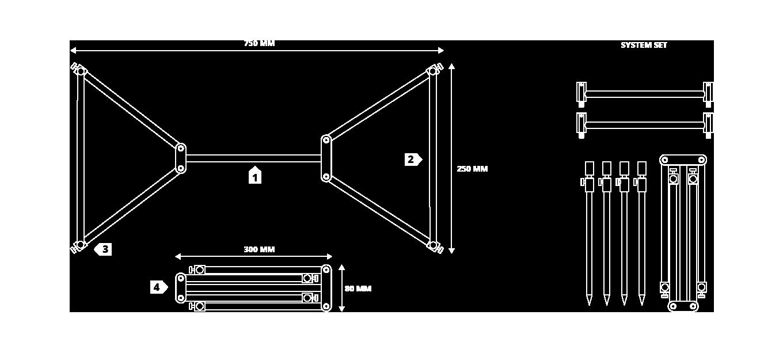 Strategy XS Pod System - Technische Zeichnung